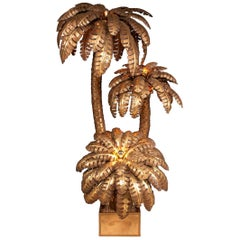 Huge 20th Century Palm Tree Floor Lamp by Maison Jansen, France, circa 1970