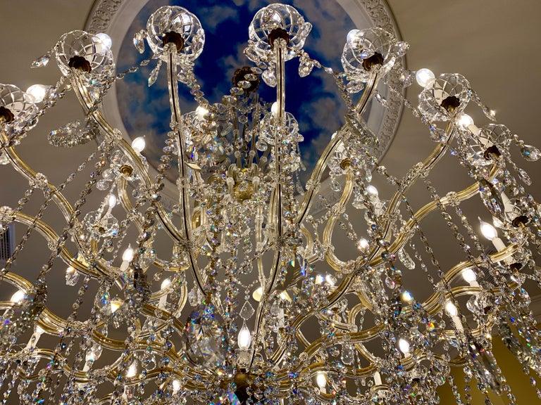 Huge 37 Light Maria Theresa Empire Swarovski Crystal Olde World Gold Chandelier For Sale 3