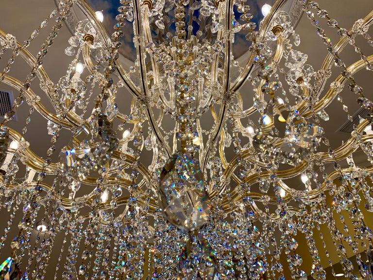 Huge 37 Light Maria Theresa Empire Swarovski Crystal Olde World Gold Chandelier For Sale 4