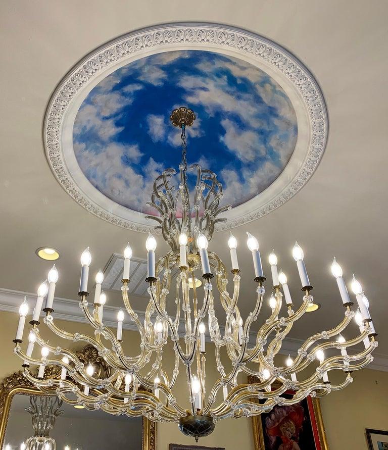 Huge 37 Light Maria Theresa Empire Swarovski Crystal Olde World Gold Chandelier For Sale 5