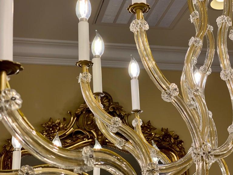 Huge 37 Light Maria Theresa Empire Swarovski Crystal Olde World Gold Chandelier For Sale 6