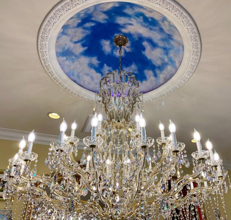 Gilt Huge 37 Light Maria Theresa Empire Swarovski Crystal Olde World Gold Chandelier For Sale