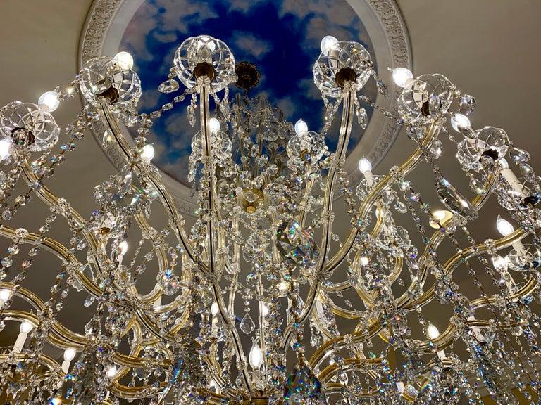 Metal Huge 37 Light Maria Theresa Empire Swarovski Crystal Olde World Gold Chandelier For Sale