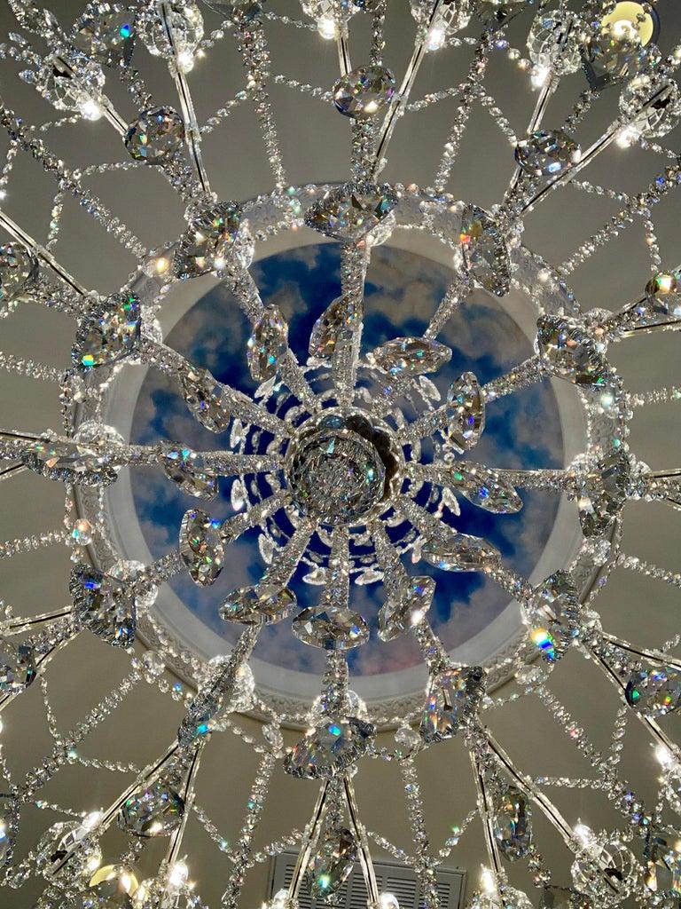 Huge 37 Light Maria Theresa Empire Swarovski Crystal Olde World Gold Chandelier For Sale 2