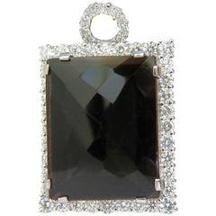 Huge 52.34CT Natural Fancy Brown Topaz Diamond Necklace & Omega 14KT A+