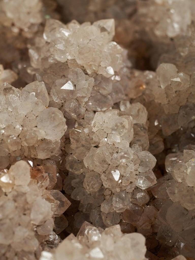 Huge Pinkish Quartz Crystal Covered Rock For Sale 3