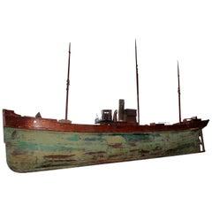 """Huge"" Antique Steam/Sail Ship"