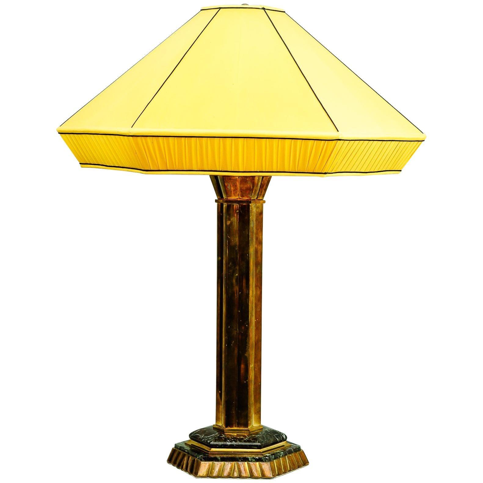 Huge Art Deco Table Lamp, Austria, 1920s
