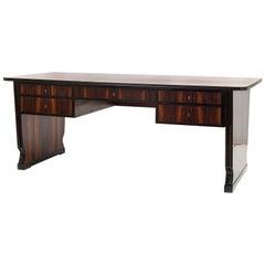 Huge Austrian Art Deco Rosewood Writing Desk