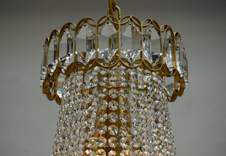 Huge Beautiful Crystal Bakalowits Chandelier For Sale 2