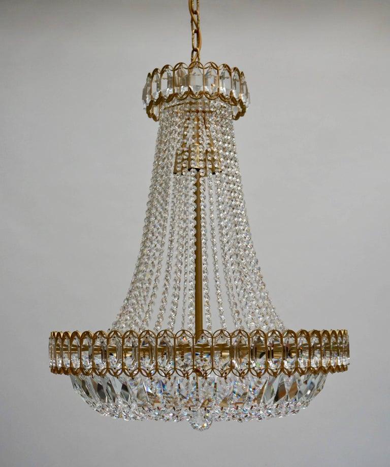 Hollywood Regency Huge Beautiful Crystal Bakalowits Chandelier For Sale