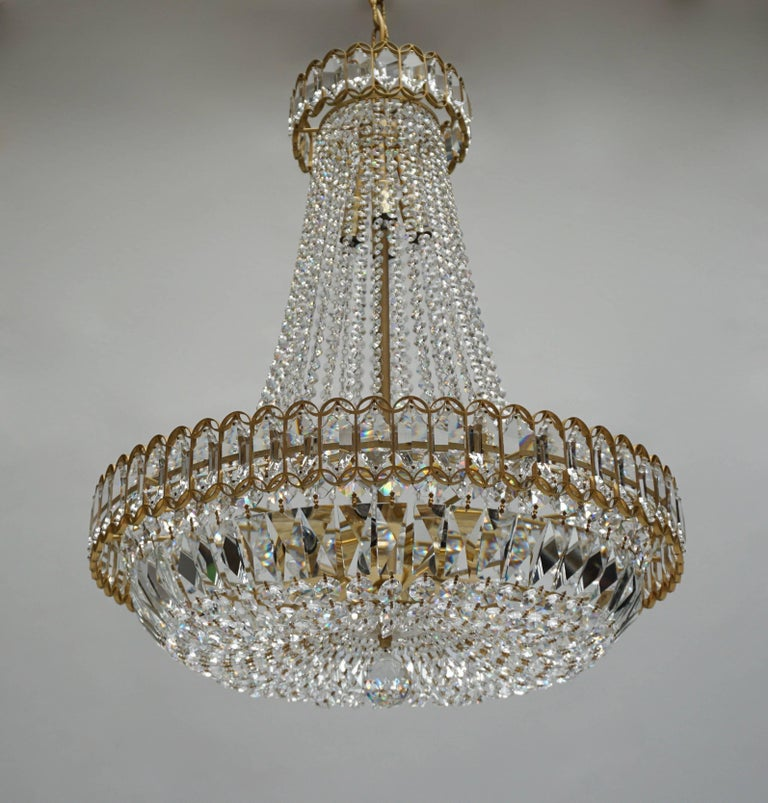 Austrian Huge Beautiful Crystal Bakalowits Chandelier For Sale