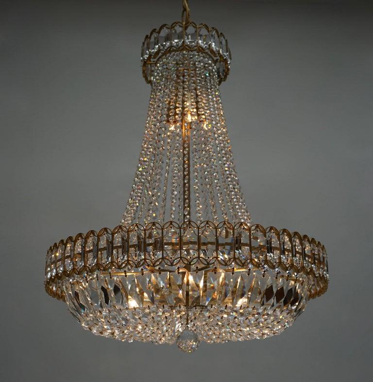 Huge Beautiful Crystal Bakalowits Chandelier In Good Condition For Sale In Antwerp, BE
