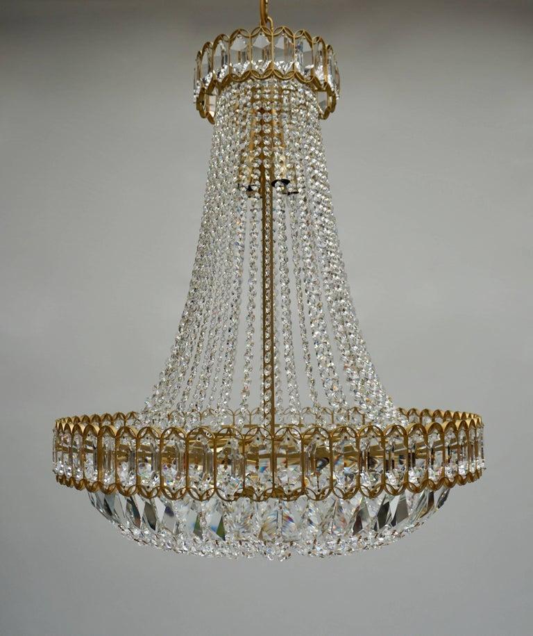 20th Century Huge Beautiful Crystal Bakalowits Chandelier For Sale
