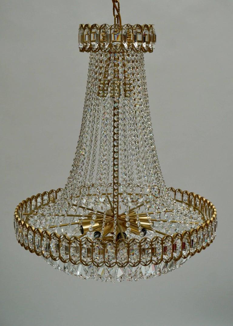 Huge Beautiful Crystal Bakalowits Chandelier For Sale 1