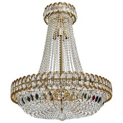 Huge Beautiful Crystal Bakalowits Chandelier