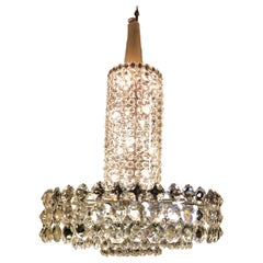 Huge Beautiful Crystal Chandelier by Bakalowits & Söhne Vienna, 1960s