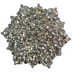 Huge Bling 3.80 Carat Diamond and 18 Carat Gold Cluster Ring