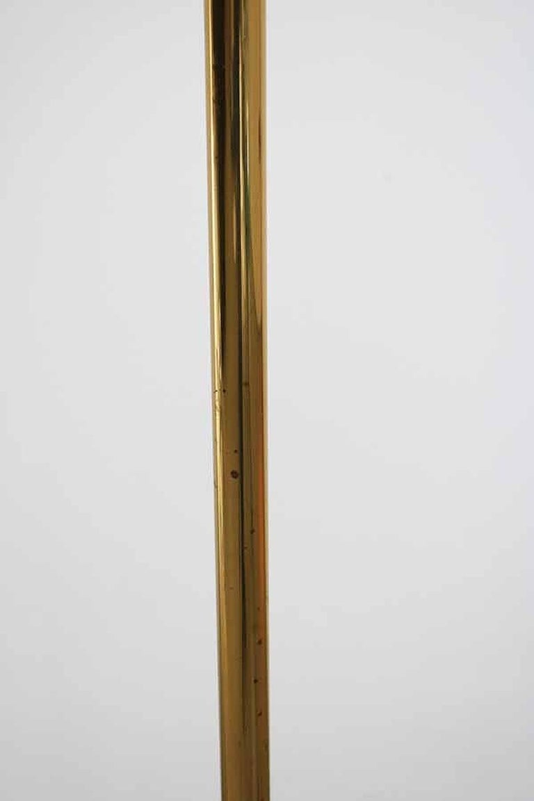 Huge Brass Floor Lamp with Counterweight by Florian Schulz, Germany For Sale 9