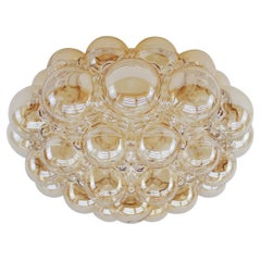 Huge Bubble Glass Wall Lamp or Flush Mount by Helena Tynell, 1960s Limburg