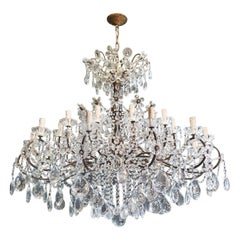 Huge Candelabrum Crystal Antique Chandelier Ceiling Lustre Art Nouveau
