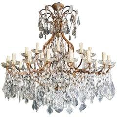 Huge Candelabrum Crystal Antique Chandelier Ceiling Lustre Art Nouveau