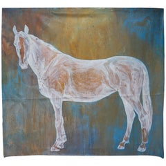 Huge Canvas with Painted Horse by Conny Dekkers Titled 'Lifeforce'