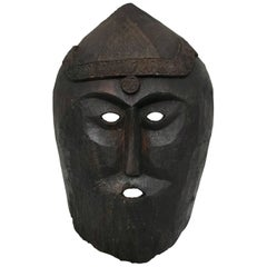 Huge Carved Mahogany Celtic Mask