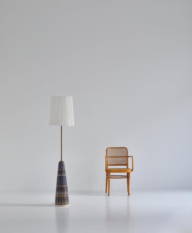 Huge Ceramic Floor Lamp by Noomi Backhausen for Søholm, 1960s, Danish Modern 4