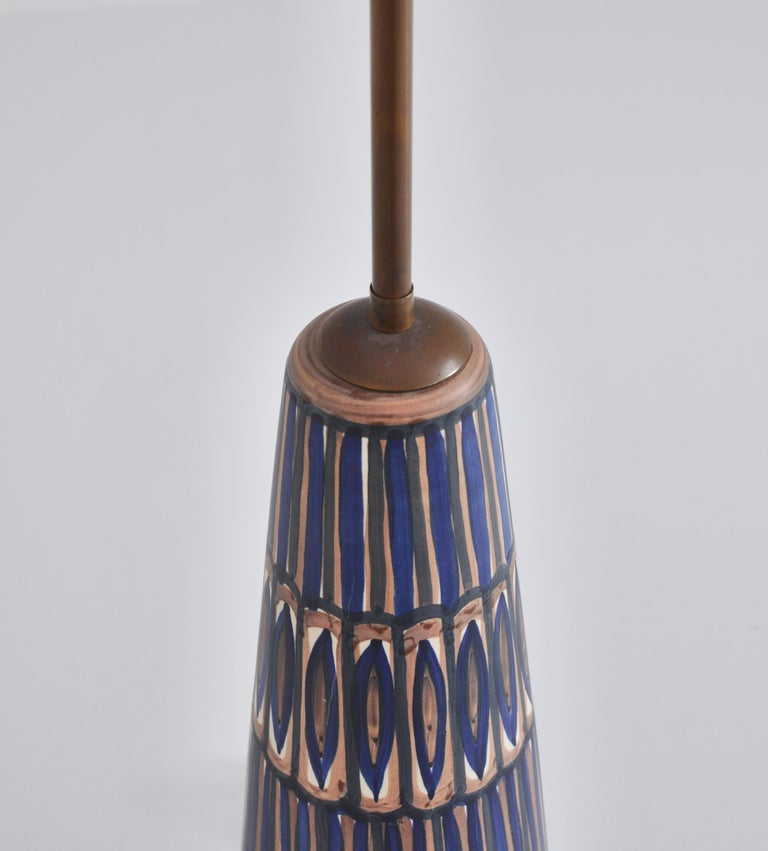 Huge Ceramic Floor Lamp by Noomi Backhausen for Søholm, 1960s, Danish Modern In Good Condition In Odense, DK