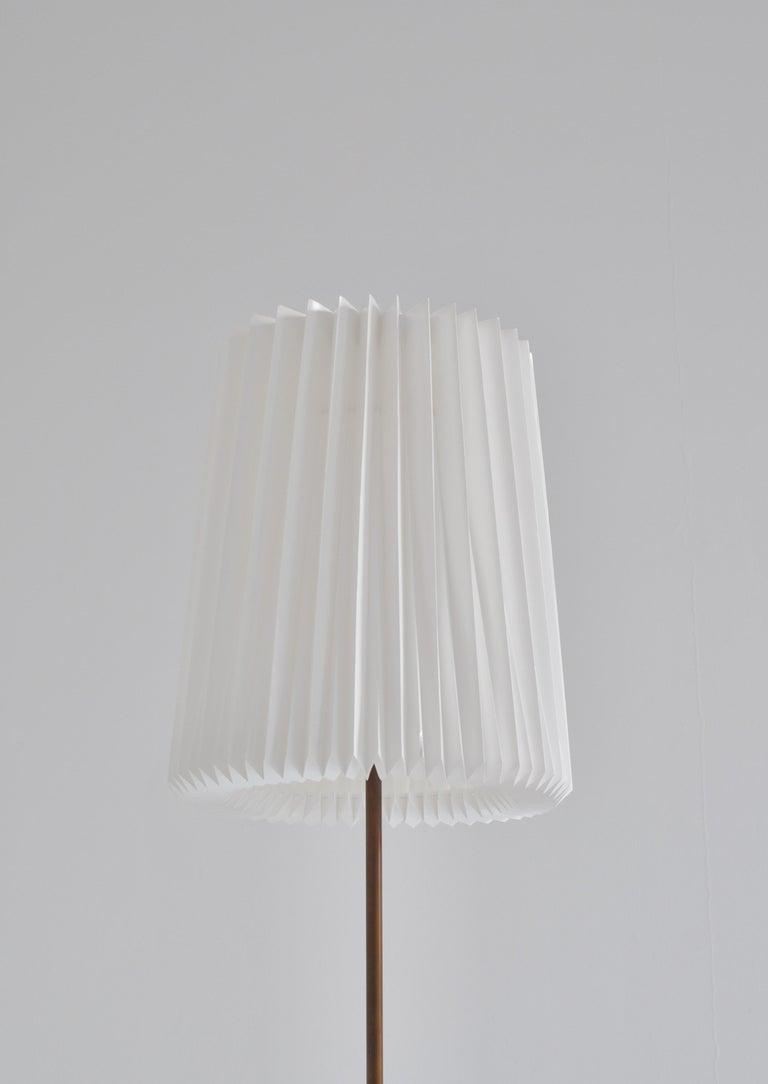Brass Huge Ceramic Floor Lamp by Noomi Backhausen for Søholm, 1960s, Danish Modern