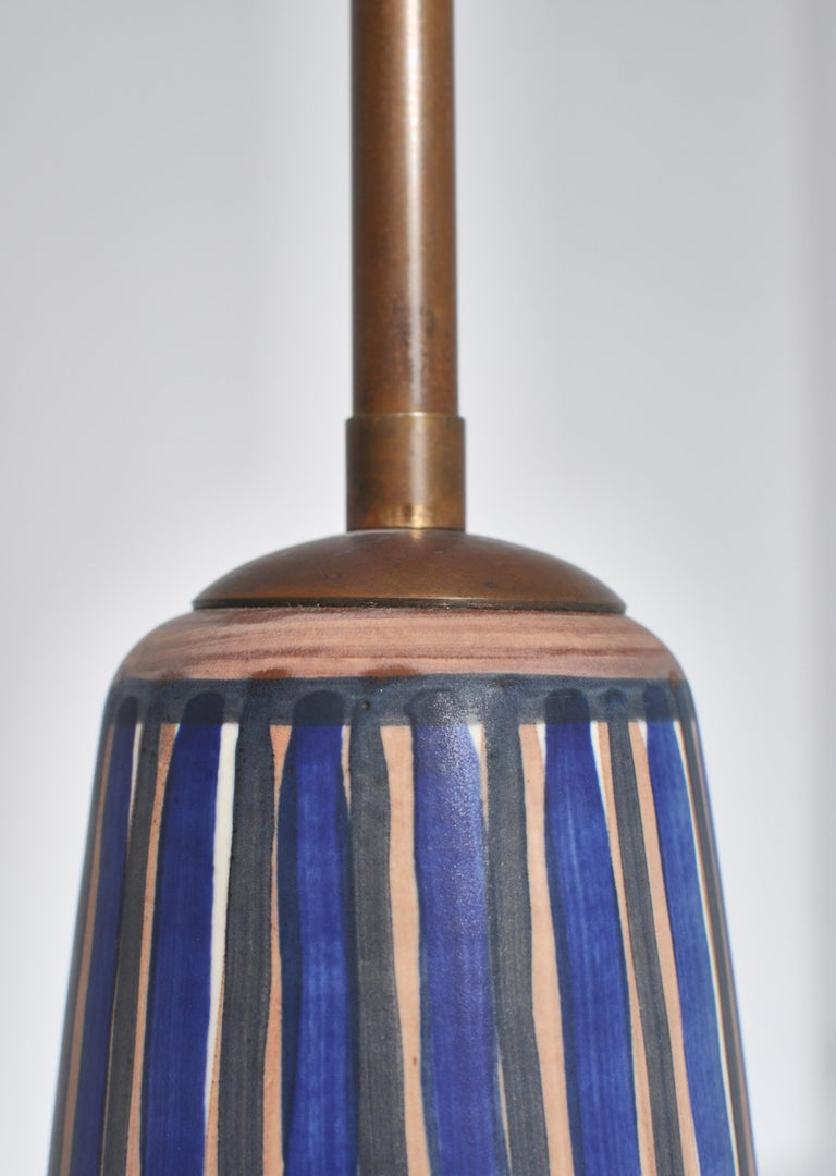 Huge Ceramic Floor Lamp by Noomi Backhausen for Søholm, 1960s, Danish Modern 2