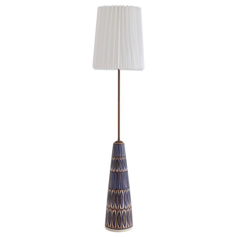Huge Ceramic Floor Lamp by Noomi Backhausen for Søholm, 1960s, Danish Modern