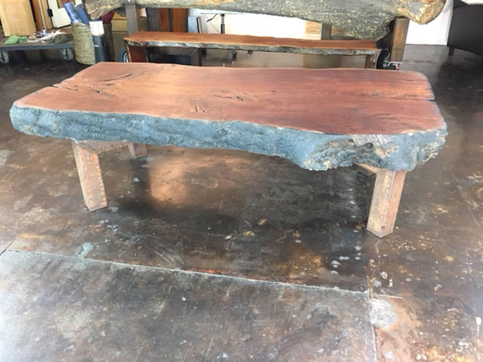 Huge Coffee Table Or Display Table In Eucalyptus Wood For Sale 2