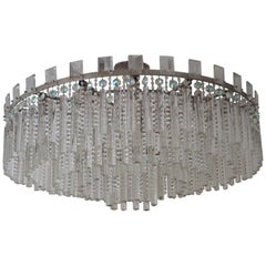 Huge Crystal Chandelier Attributed to Bakalowits, Austria, circa 1950s