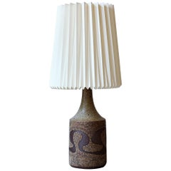 Huge Danish Modern 1960s Ceramic Floor Lamp With Robert Kasal Le Klint Shade