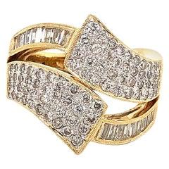 Huge Diamond Cocktail Ring 2.50 Carat G, VS in 18 Karat Yellow Gold