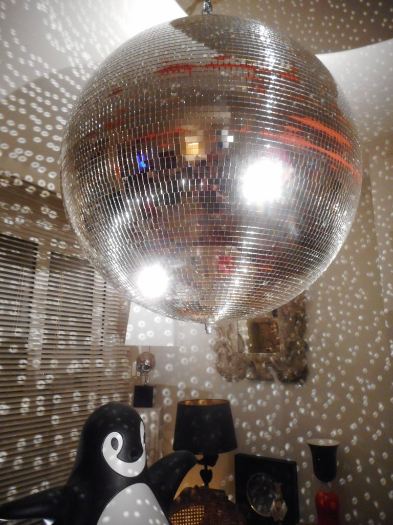 Belgian Huge Disco Mirrored Ball, Belgium, 1970 For Sale