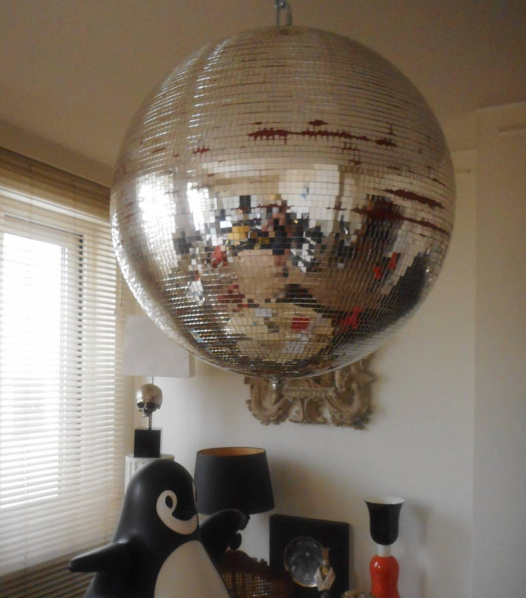 Late 20th Century Huge Disco Mirrored Ball, Belgium, 1970 For Sale