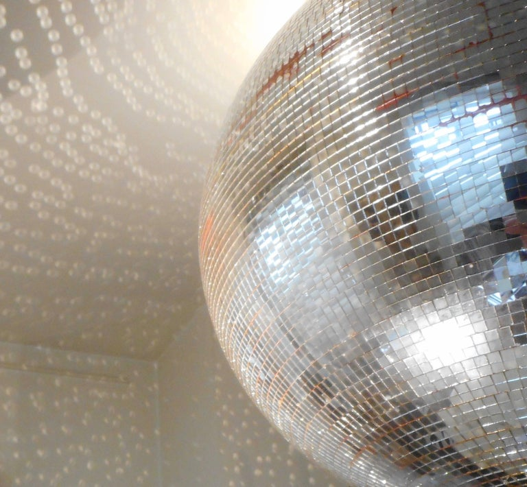 Huge Disco Mirrored Ball, Belgium, 1970 For Sale 1