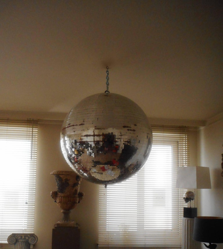 Huge Disco Mirrored Ball, Belgium, 1970 For Sale 2