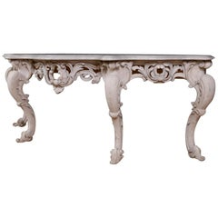 Huge English Console Table