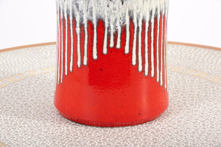 Huge Fat Lava Ceramic Floor Vase by Bay Keramik, West-Germany, 1960s In Good Condition For Sale In Berlin, DE