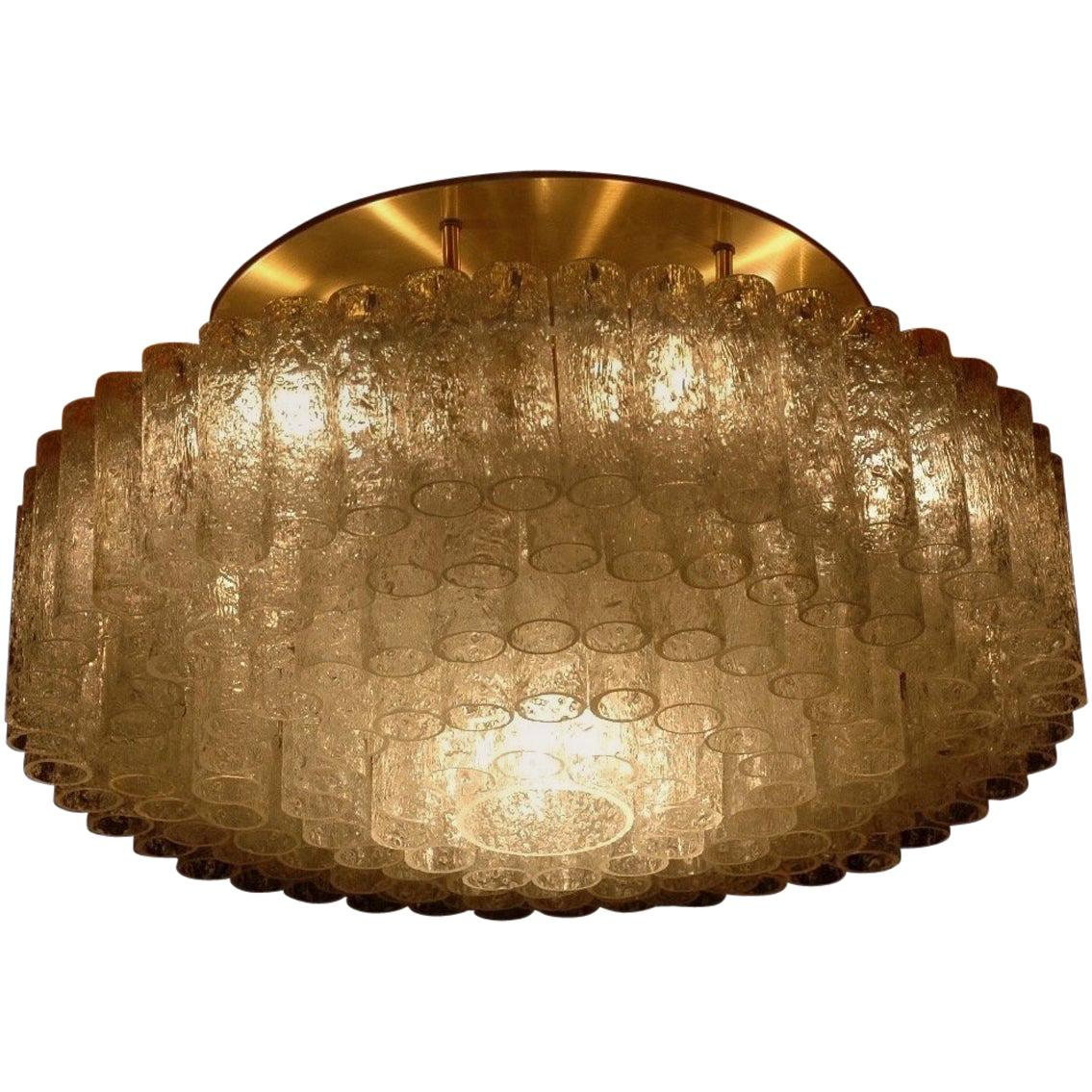 Huge Flush Mount Light Fixture by Doria, Germany, a Pair of 2 Available