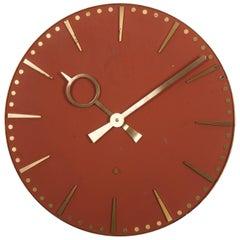 Huge German TN Telenorma Brass Wall Clock