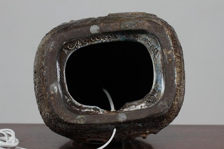 H 35 inch Huge Danish Brutalist Sejer Ceramic Sculptural Table Lamp, 1960s For Sale 12