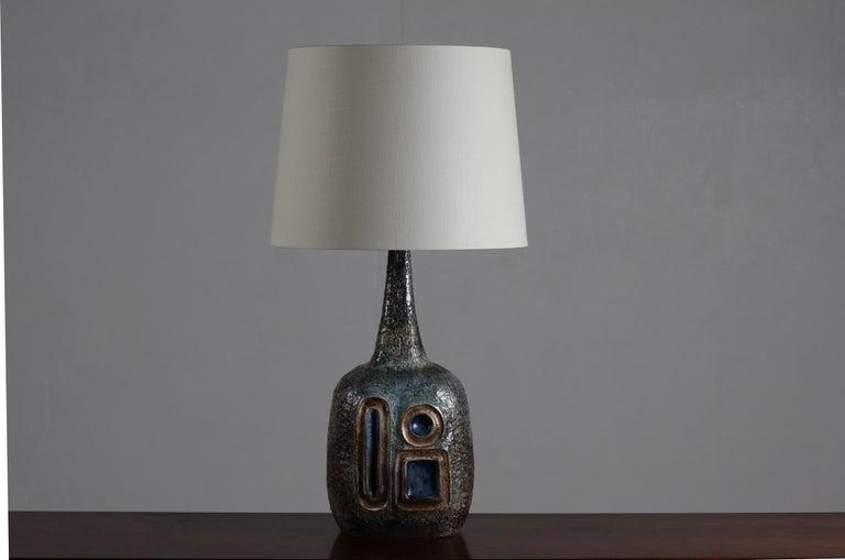 H 35 inch Huge Danish Brutalist Sejer Ceramic Sculptural Table Lamp, 1960s For Sale 13