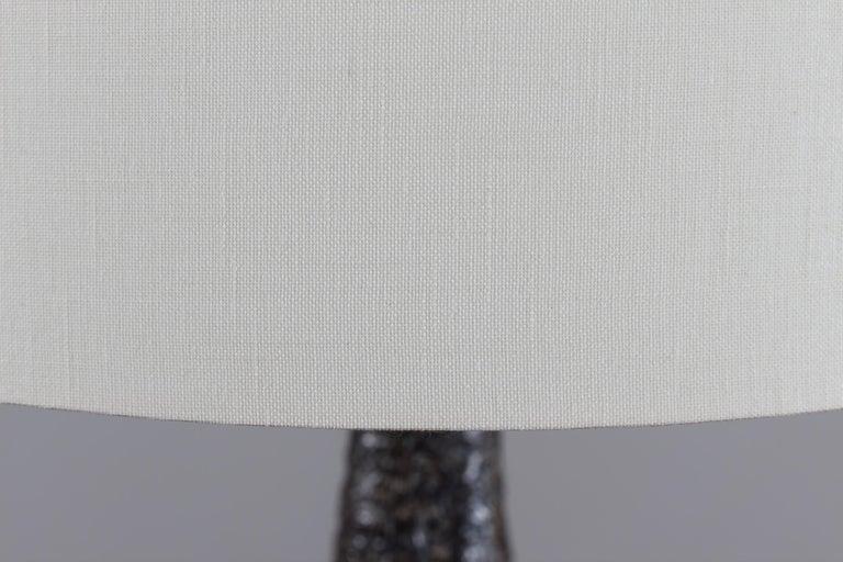 H 35 inch Huge Danish Brutalist Sejer Ceramic Sculptural Table Lamp, 1960s For Sale 4