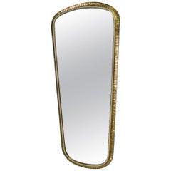 Huge Handmade Brass Mirror from Vereinigte Werkstätten München, Germany, 1960s