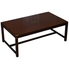 Huge Harrods London Kennedy Military Campaign Style Coffee Table